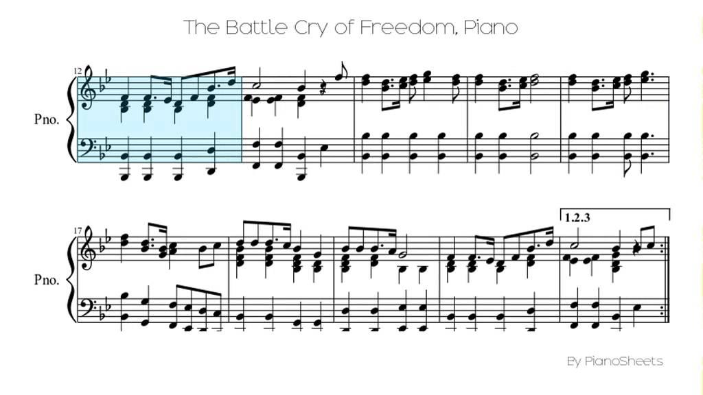 The Battle Cry of Freedom [Piano Solo] - YouTube