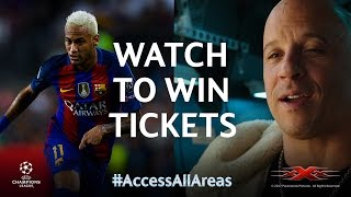 Vin Diesel  Win tickets to see Neymar and Barcelona