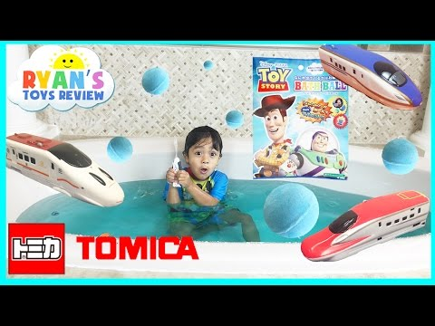 Disney Toys Bath Balls Japanese Surprise Toy Story Tomica Trains For Kids Ryan ToysReview