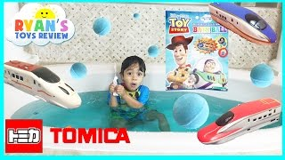 Disney Toys  Surprise and Tomica Trains for Kids Ryan ToysReview thumbnail