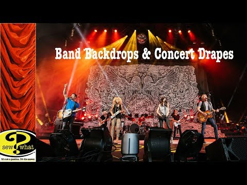 Band Backdrops and Concert Drapes