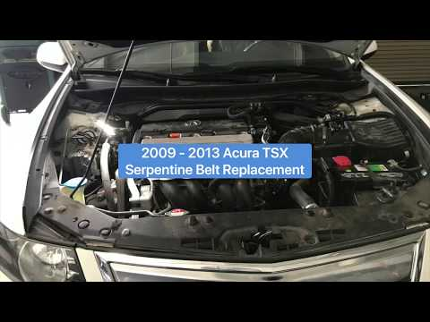 2009 – 2014 Acura TSX – Serpentine Replacement – DIY – How To Tutorial