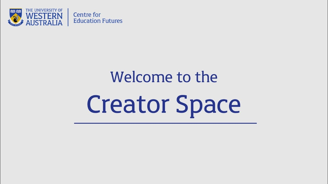 Welcome to the Creator Space - YouTube