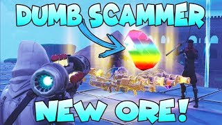 Dumb Scammer Nearly Scams *NEW* ORE!! (Scammer Gets Scammed) Fortnite Save The World