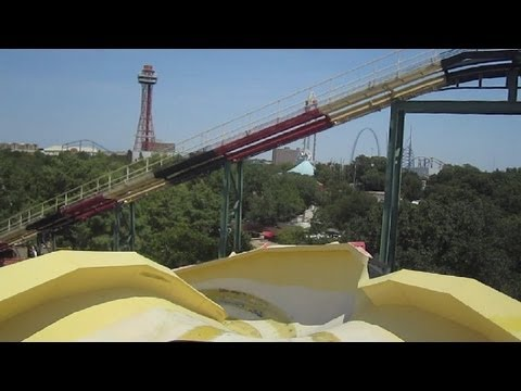 La Vibora Front Seat on-ride HD POV Six Flags Over Texas