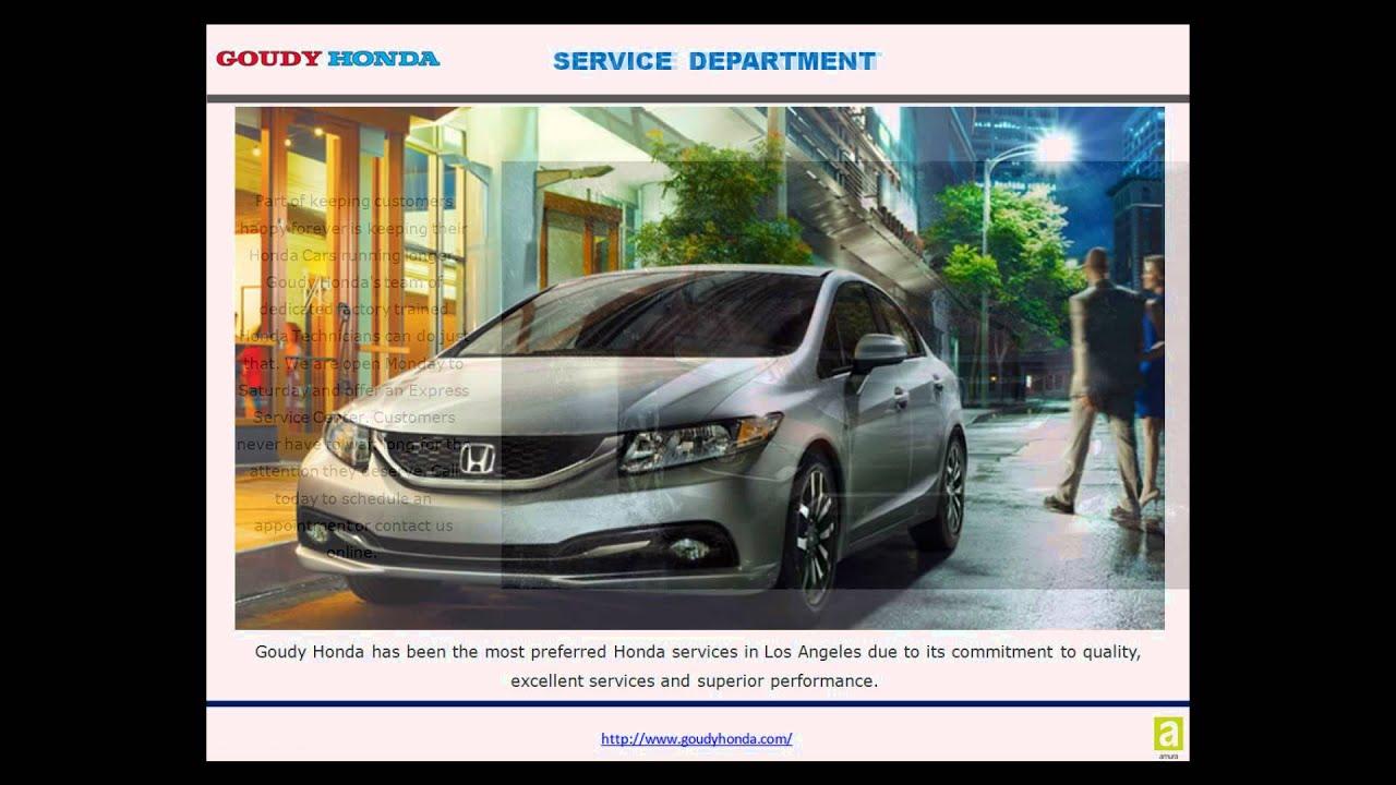 Goudy Honda Honda Car Shop In Alhambra Youtube