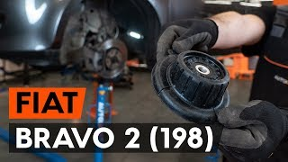 How to change front strut mount / top munt FIAT BRAVO 2 (198) [TUTORIAL AUTODOC]