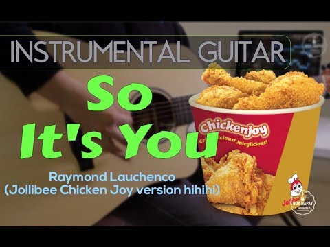 So It's You (Jollibee version) instrumental guitar cover