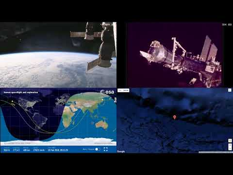 Sunset Over Asia And Pacific - ISS Space Station Earth View LIVE NASA/ESA Cameras And Map - 66