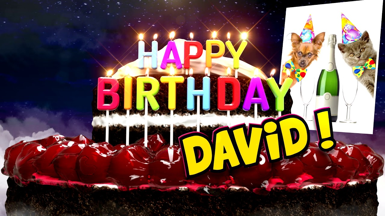 Happy Birthday David Cake Champagne Modern Youtube