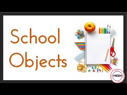 School Objects, English Video Lessons