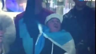 Diego Maradona Gritando Drinking Ole Ole Ole Pumas RUGBY WORLD CUP 2015 ARGENTINA vs AUSTRALIA