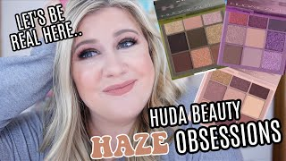 HUDA BEAUTY HAZE OBSESSIONS PALETTES - TESTING ALL 3 PALETTES + MY THOUGHTS