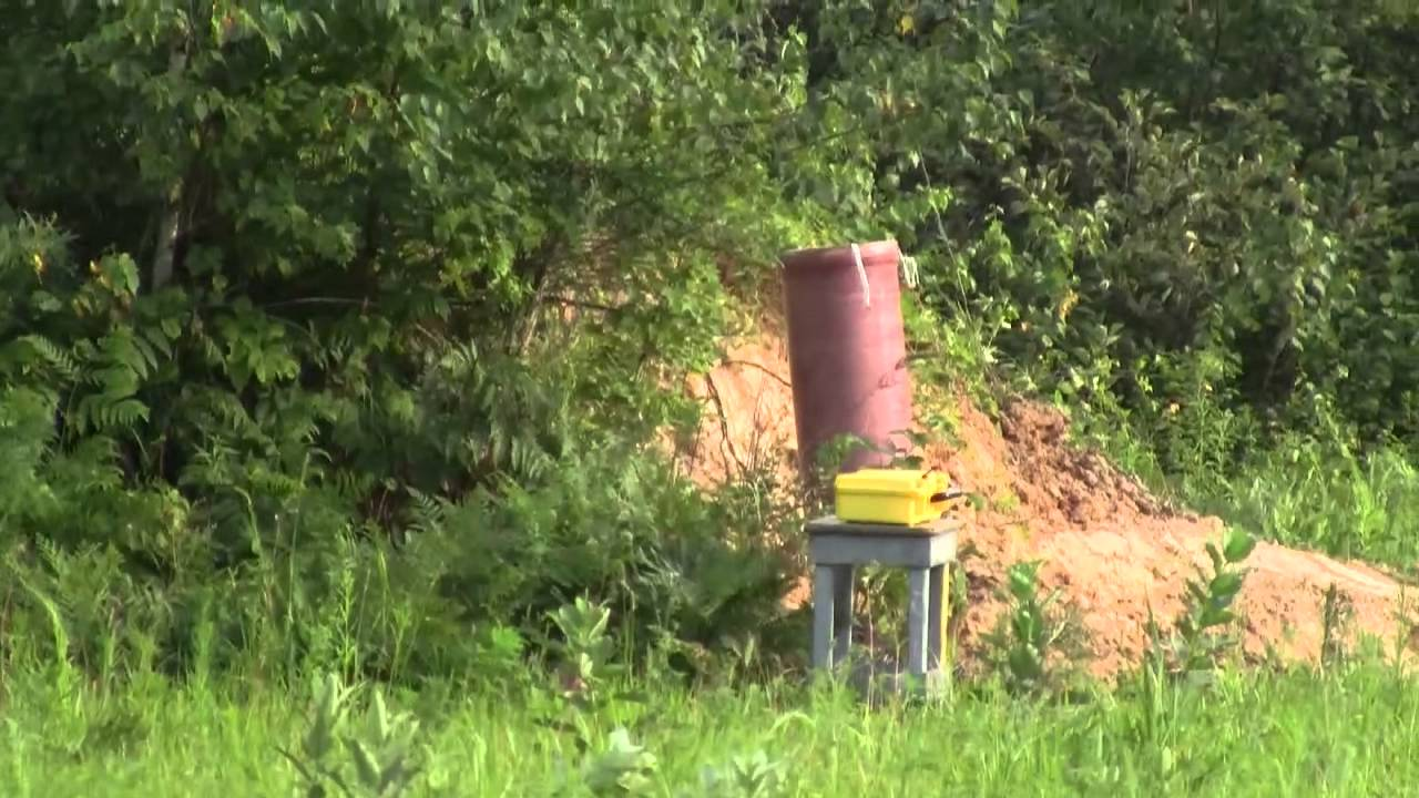 Lift test of a 12 inch fireworks shell