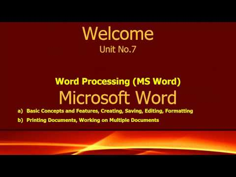 How  To Use MS Word | Full Tutorial In Microsoft Word | MS Office Training Video
