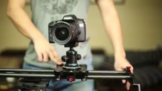 GP-80Q 80cm Carbon Fiber DSLR Camera Track Slider Portable Video Stabilizer