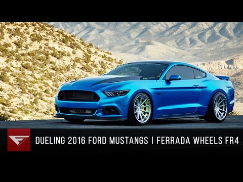 Dueling 2016 Mustang GTs | Ferrada Wheels FR4 Machine Silver and FR4 Matte Bronze