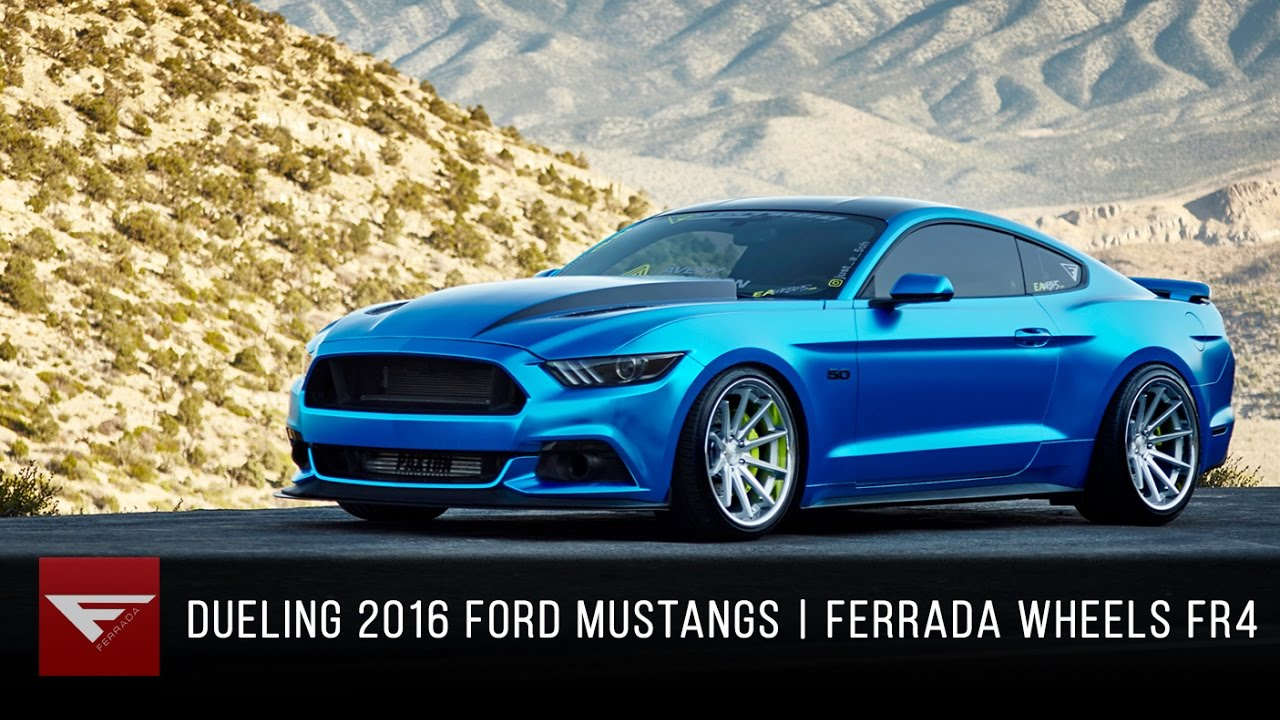 Dueling 2016 Mustang GTs | Ferrada Wheels FR4 Machine ...