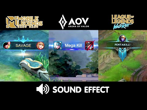Mobile Legends VS Arena Of Valor VS LOL Wild Rift : SOUND EFFECTS COMPARISON