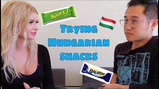 TRYING HUNGARIAN SNACKS