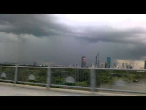Ho Chi Minh City storm coming