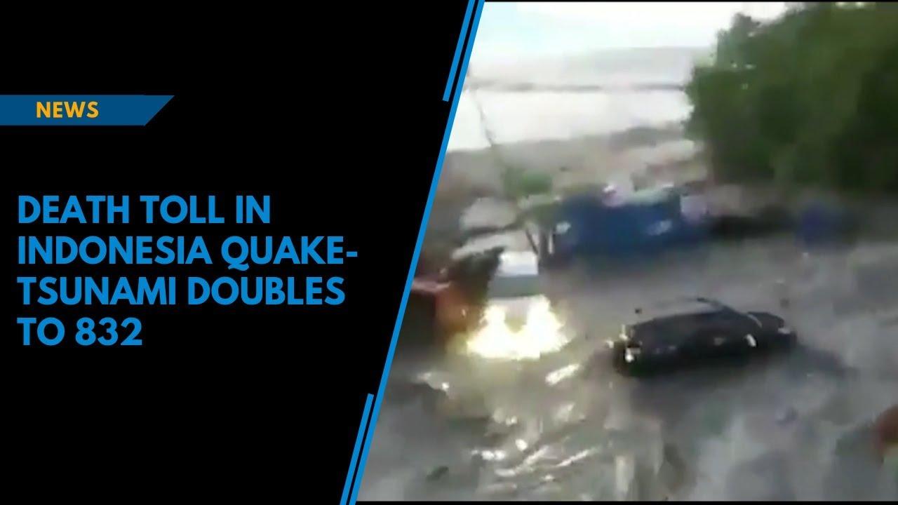 Death toll in Indonesia quake-tsunami doubles to 832