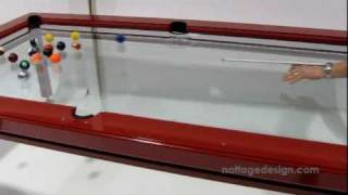 The G-4 Glass Top Pool Table - By Nottage Design