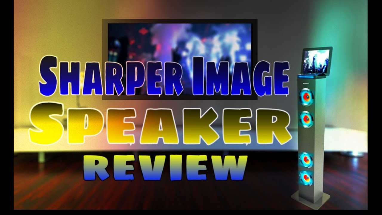 Sharper Image Speaker Tower Review Youtube