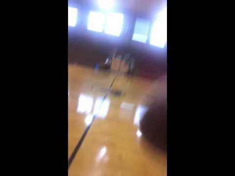 Basketball Tricks In Drumright High School Gym