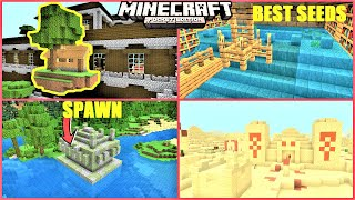 Minecraft PE TOP 5 SEEDS - Spawn ON Temple, Village UNDER Mansion & More | MCPE 1.16