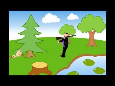 Мультфильм охотник и утка