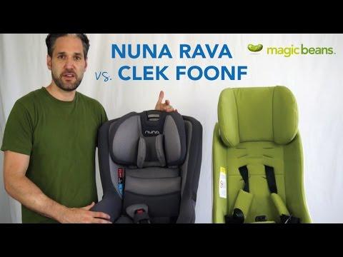 Nuna Rava Vs Clek Foonf Convertible Car Seat