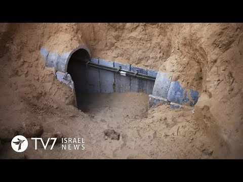 TV7 Israel News 15.01.18 IDF destroys cross-border tunnel on Israel's border with Gaza and Egypt