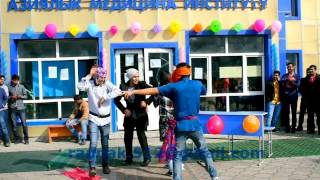 asian medical institute kyrgyzstan cultural fest 2017 a funny dance by 1st year students