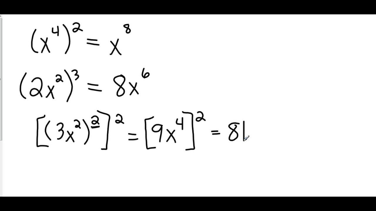 Algebra I 7 1 Multiplying Monomials