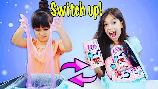 The LUNCHBOX SWITCH UP Challenge! SLIME vs LOL Surprise #HAIRGOALS