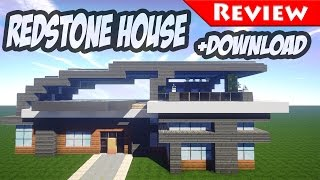 Minecraft: Modern Redstone House Review + DOWNLOAD / Smart House / 1.8 / secret bases /
