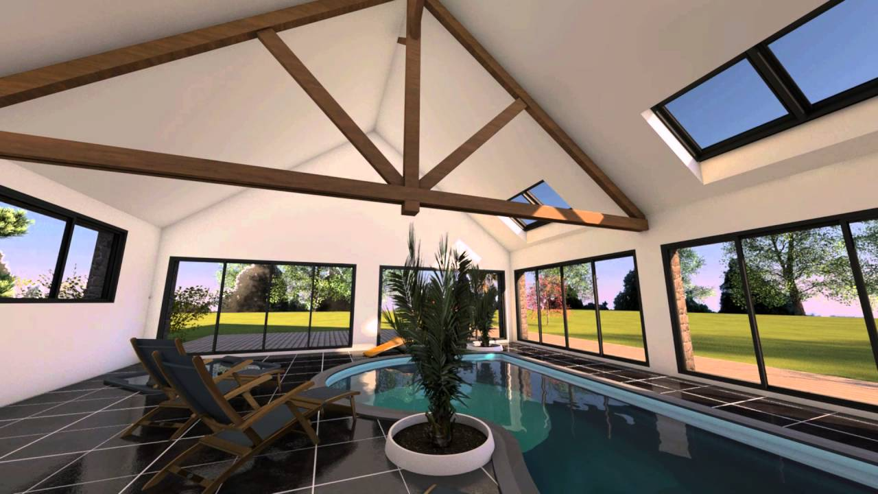 Extension d 39 une maison avec piscine int rieure youtube for Piscine interieure