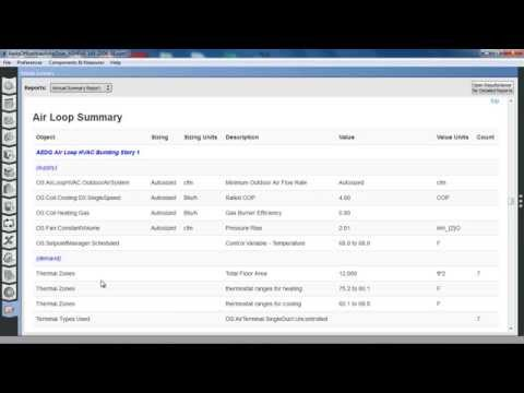 OpenStudio 1.7.0 Annual Summary and Schedule Profile Measures