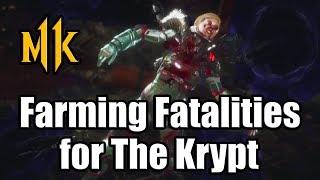 MORTAL KOMBAT 11 Farming Fatalities for The Krypt Easy Way | Heads for Warrior Shrine (MK11)