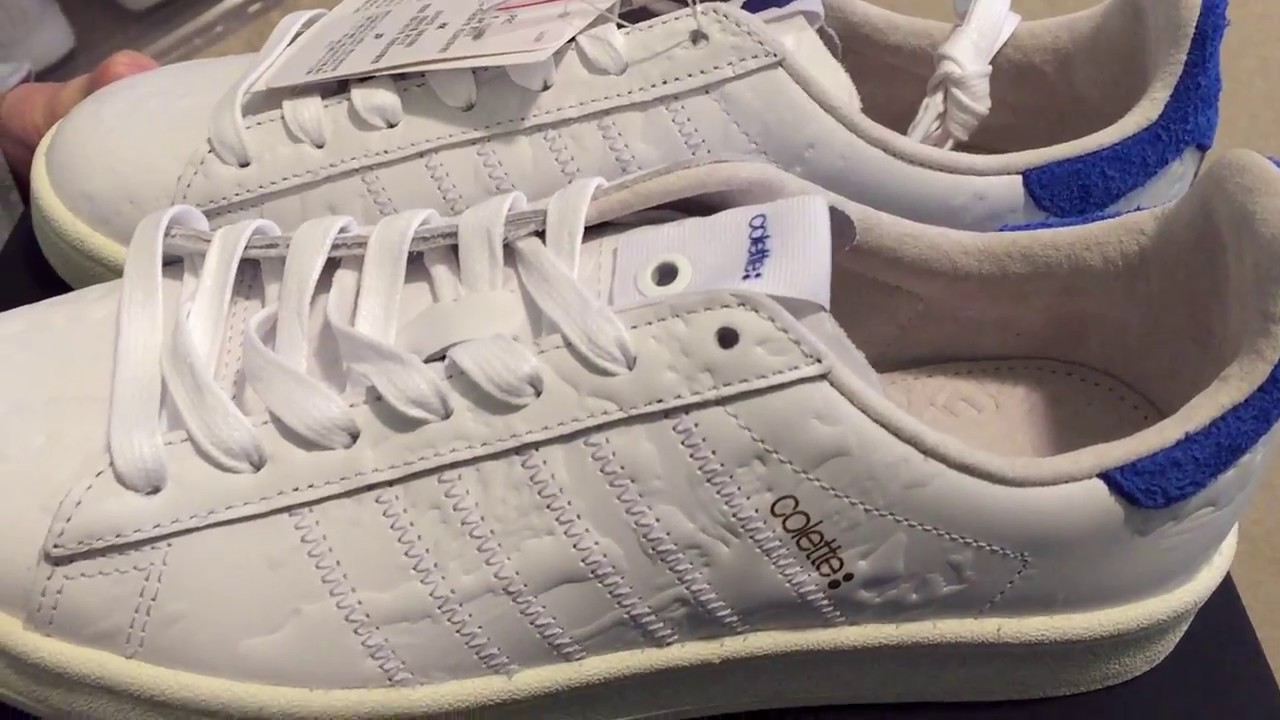 more photos 50261 bb4af Adidas Consortium Colette x Undefeated Campus 80 Sneaker Unboxing ...