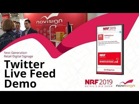 NoviSign at NRF 2019 expo, New York - Twitter in digital