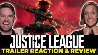 Justice League Comic Con Trailer 2017 REACTION & REVIEW!