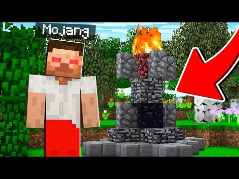 I summoned MOJANG in Minecraft.. (no joke)