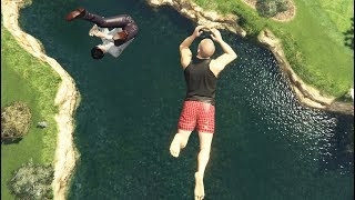 GTA 5 CRAZY Jumps/Falls Compilation #9 (GTA V Ragdolls Fails Funny Moments)