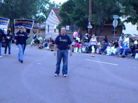 Ed Perlmutter, 7th district of Colorado does Cartwheels during Memorial Day Parade in Commerce City