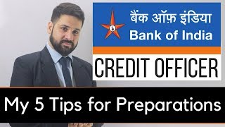 5 Tips for Bank of India Credit Officer Exam Preparation
