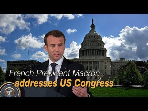 Live: French President Macron addresses US Congress 法国总统马克龙在美国国会发表演讲