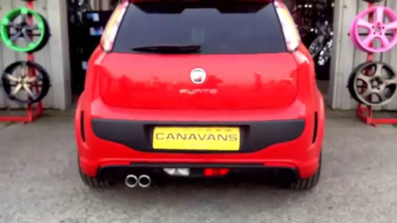 fiat punto abarth 1.4 turbo custom made stainless steel exhaust
