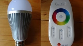 """Tao Tronics RGB LED Lampe Glühbirne, Wifi WLAN 2,4G Touch Fernbedienung"" -Test"